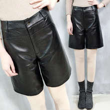 2019 New Fashion Genuine Sheep Leather Shorts Y52