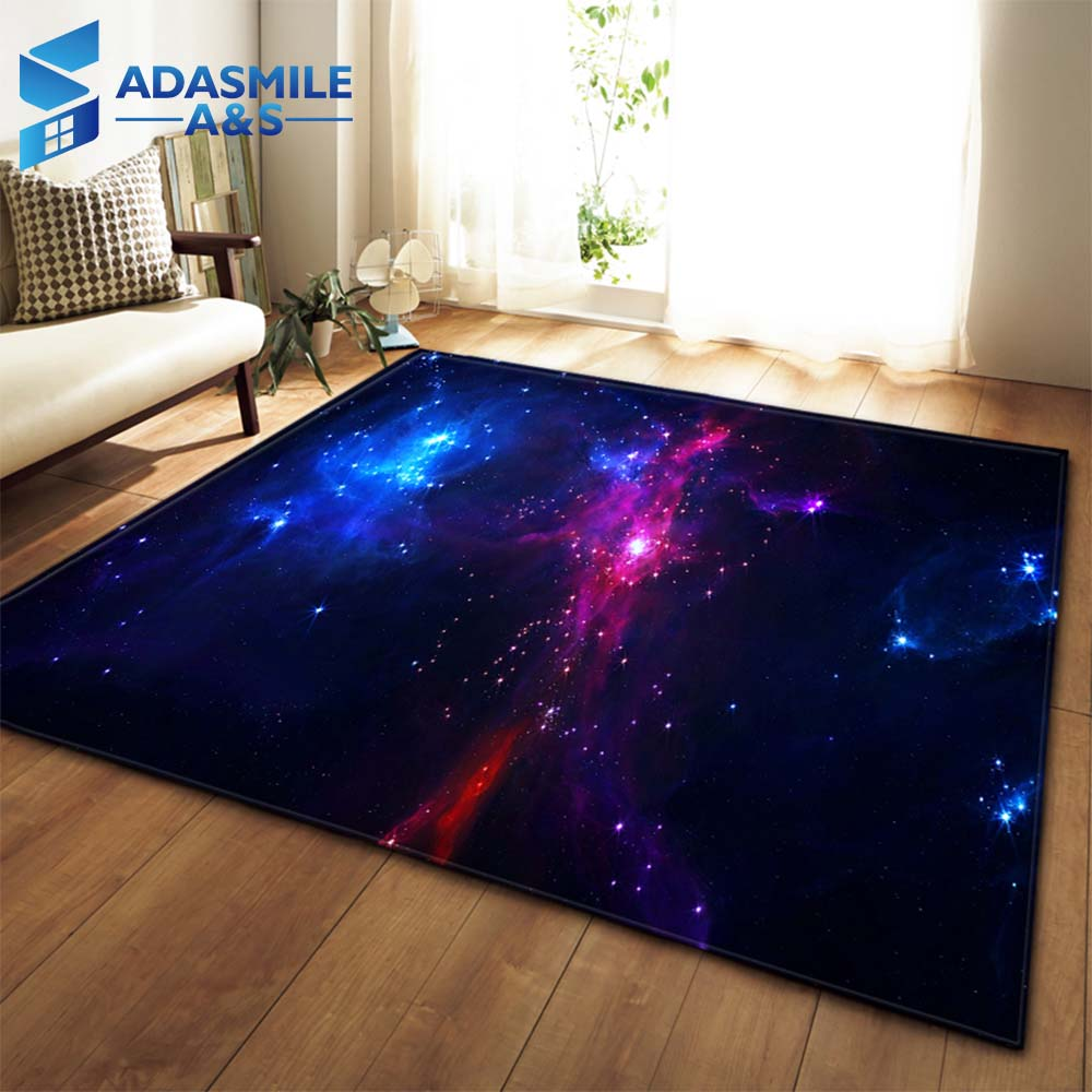 3D Galaxy Espaço Estrelas Tapetes Sala de estar Decoração Do Quarto Sala de Estar Mesa de Chá de Flanela Grande Tapete Tapete de Área Tapete Macio e tapete