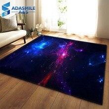3D Galaxy uzay yıldız halı oturma odası dekorasyon yatak odası salonu çay masa alan halı Mat yumuşak pazen büyük halı ve halı