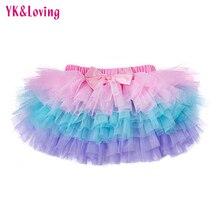 Новая летняя юбка для девочек юбка-пачка для малышей кружевная сетчатая юбка-американка Малиново-белые детские юбки Одежда для новорожденных, Saias YK& Loving TP107