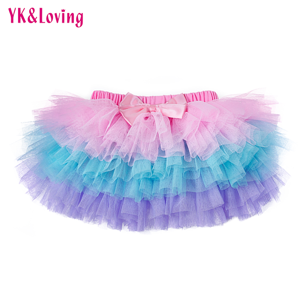 New Summer Girls Skirt Baby Tutu Skirt Lace Mesh Pettiskirt Crimson White Children Skirts Newborn Saias Clothing YK&Loving TP107