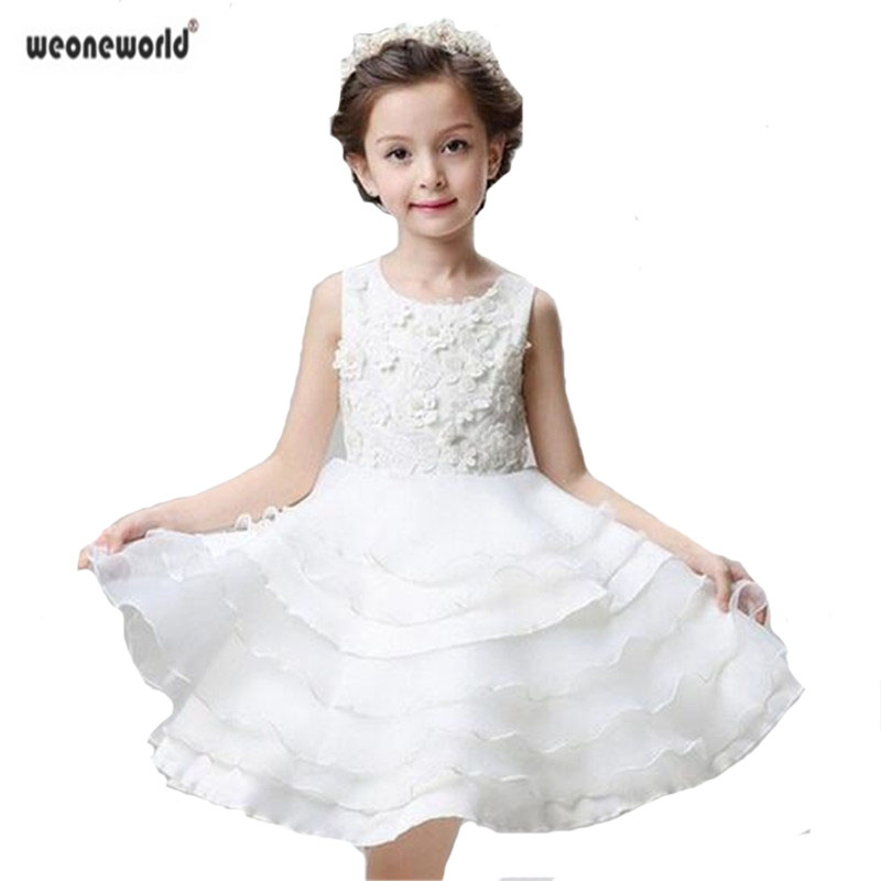 Baby Girl Kid Child Lace Party Dress Wedding Pageant Flower Girl Princess Dress