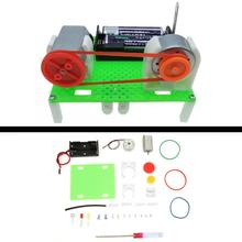 DIY Mini Generator Electric Transmission Wheel Motor Generator Energy For Kids Physical Experiment Learning Gift стоимость