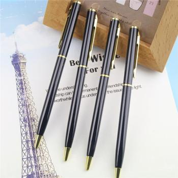 1 Pc Core Metal Ballpoint Pen Rotating Metal Money Clip Metal Luxury Ballpoint Pen High Quality Mb Roller Pen Material Escolar
