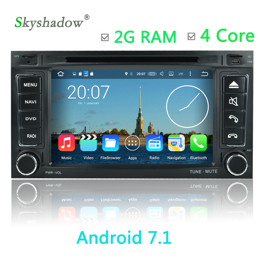 Android 7.1 Car DVD Player 4 Core GPS map For VW Touareg T5 Multivan ...