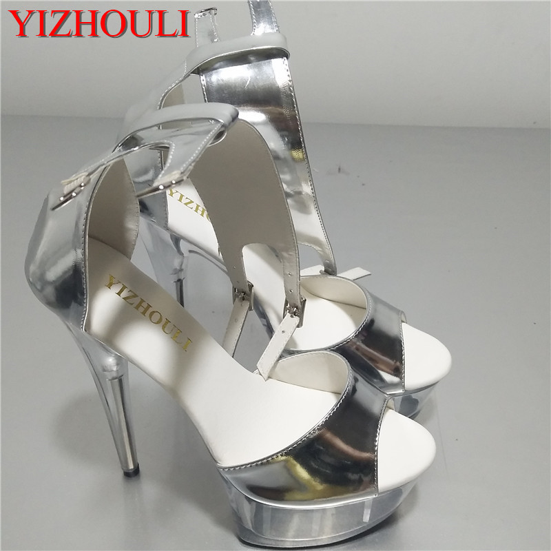 15cm Ultra-high With Sexy Love Crystal Ultra High Heels Stage Superfine Sandals Preferential Price With The Best Service Shoes Heels