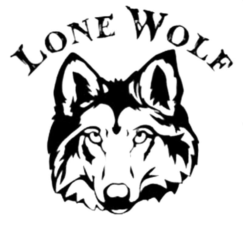 137cm157cm Lone Wolf Fashion Animal Decal Vinyl Car Sticker S4