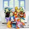 16 шт./лот Cyndaquil Pokemon Eevee Sylveon Dragonite Mewtwo Плюшевые Игрушки Фаршированные Куклы 12 ~ 16 см, дети Рождество Pokenmon Подарок Игрушки