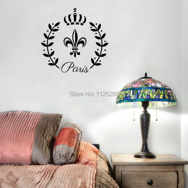 Superb Decorative Fleur De Lis Paris Vinyl Wall Decals Mural Stickers For Living  Room(China ( Part 19