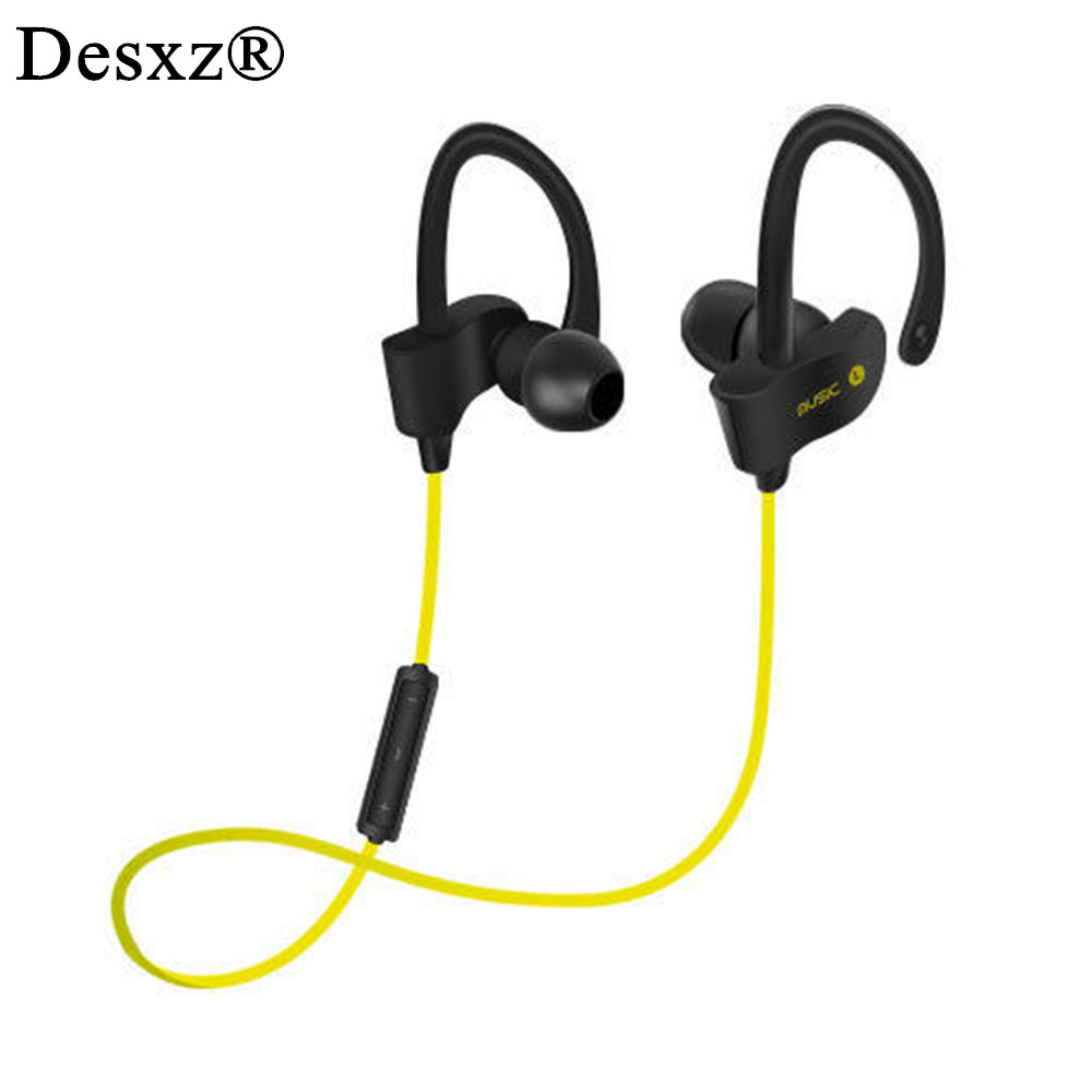 Desxz Earphone Bluetooth Wireless Headphones Stereo Bass with Mic Sport Earphone for Mobile Phone iPhone Mi Sweat Proof Headset remax 2 in1 mini bluetooth 4 0 headphones usb car charger dock wireless car headset bluetooth earphone for iphone 7 6s android