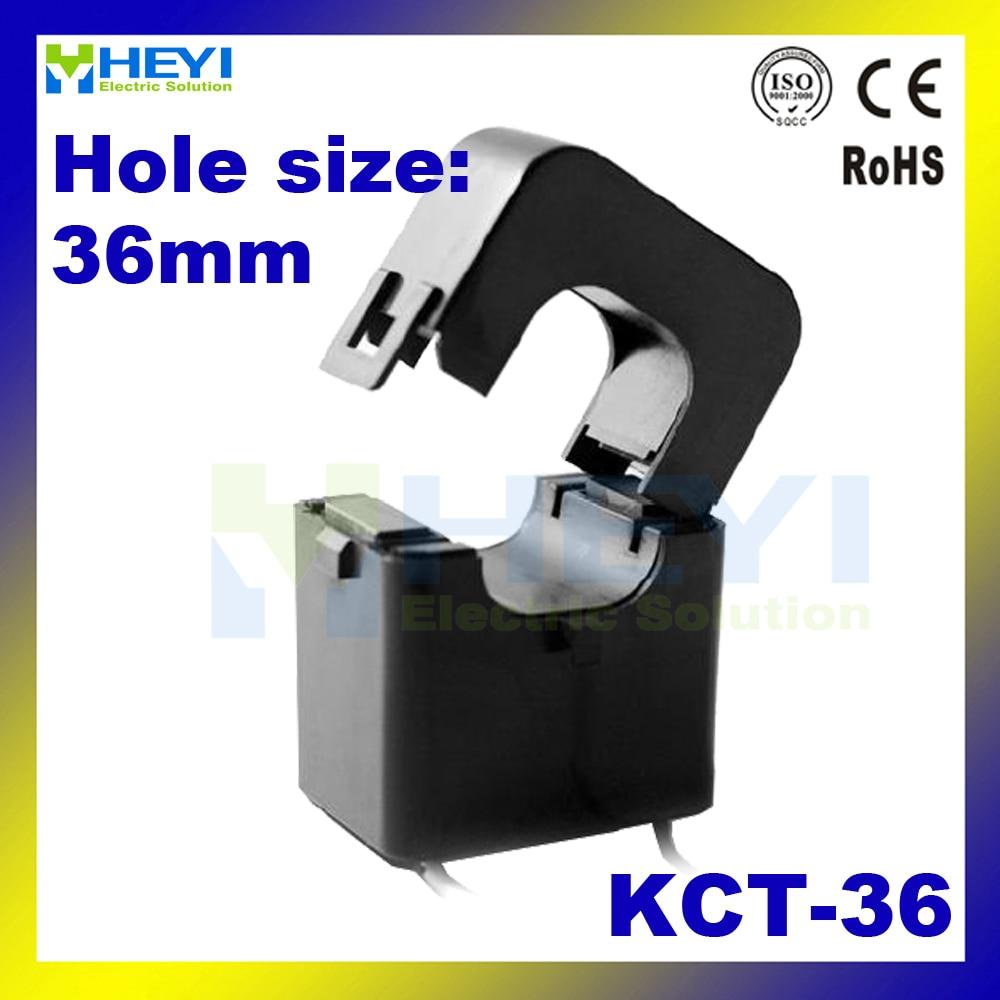 Split Core Current transformer AC Current Sensor KCT-36 clamp on current transformer катушка индуктивности mundorf m coil bv transformer core bt140 8 2 mh 1 40 mm