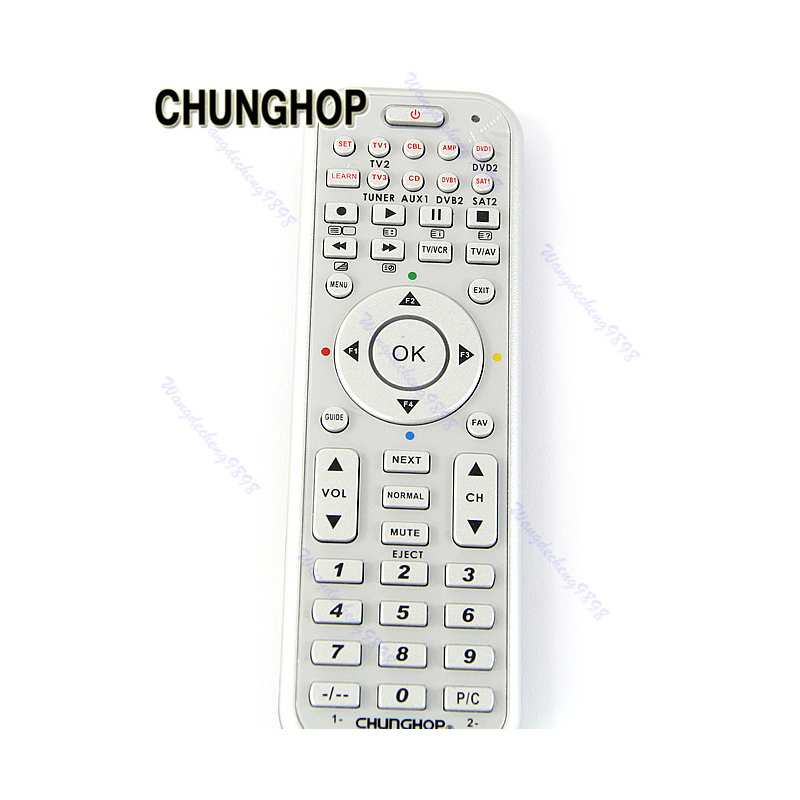 Edt-chunghop Large Key Universal White With Green Multifunction Short Remote Control For Lcd Led Hd Tv Sets Remote Controls
