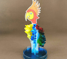 2017 Color Magic Growing Parrot Tree Magical Grow Paper Trees Regalos Magicos Science Christmas Kids Toys For Children 50Pcs/Lot
