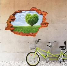 Waterproof adhesive can remove the wall stickers creative contemporary and contracted 3 d stick Sitting room ad