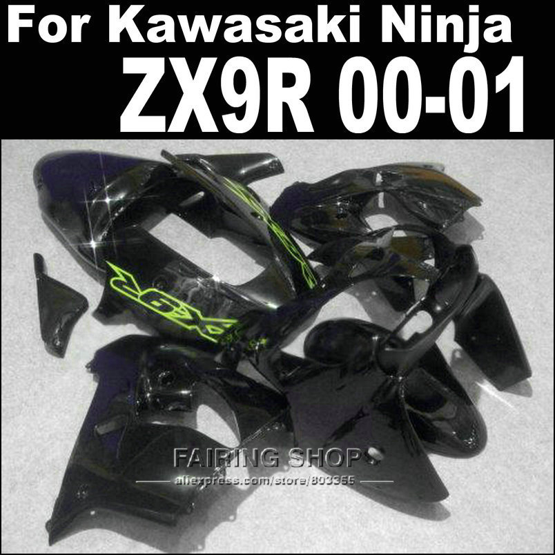 Body work kits zx9r fairings For Kawasaki Ninja 2000 2001 / 00 01 ( black ) High qualityt Fairings +Custom free xl14