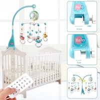 Baby Rattles Crib Mobiles Toy Holder Rotating Crib Mobile Bed Musical Box Projection