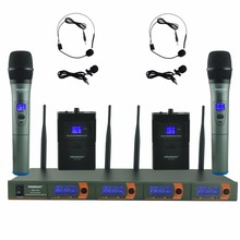 FB V04H2 Ru/Br/Ons Warehoue Professionele Microfoon Vhf Ktv Party Mic Systeem 2 Handheld En 2 Headset Draadloze karaoke Microfoon