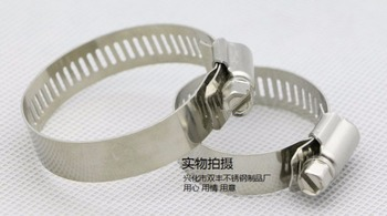 100pcs/lot High Quality 14-27mm Screw Band Worm Drive Hose Clamp 304 Stainless Steel Hose Hoop Pipe Clamp Clip