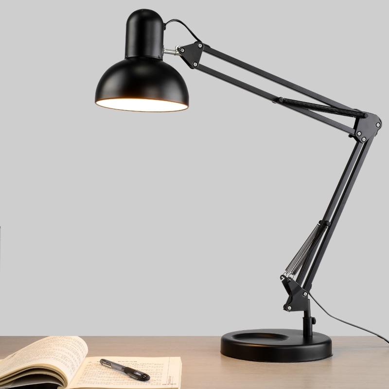 Led Reading Lamp Eye Learning Long Arm Folding Base Lamp