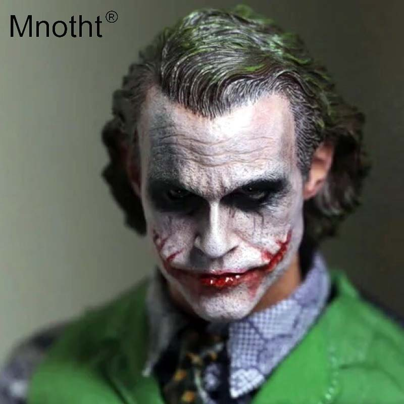 Mnotht 1:6 Scale Male Soldier Head Carving Model joker heath ledger Head Sculpt Toys For 12in Action Figures Collections m3 1 6 scale figure doll head shape for 12 action figure doll accessories batman joker heath ledger head carved