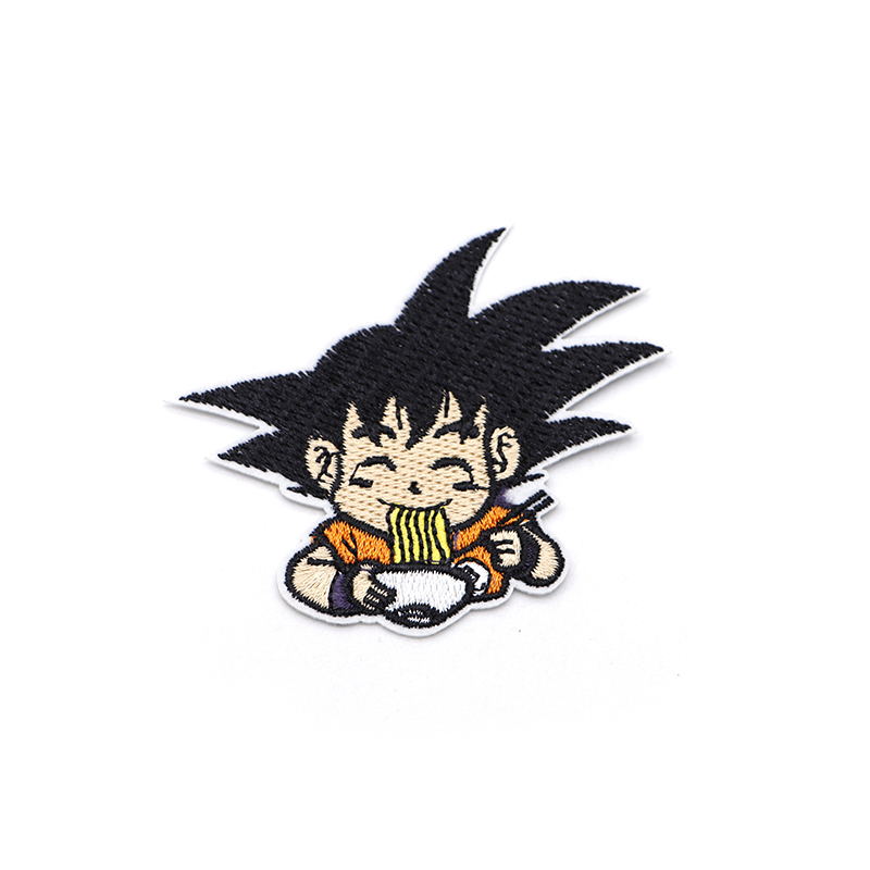 100pcs/lot Cartoon Anime Son Goku Embroidery Patch Iron On Patches For Clothes DIY Accessory Applique Armband Book Stickers S31-in Patches from Home & Garden    1