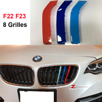 3D M Front Grille Trim Strips Grill Cover Stickers For 2014 2017 BMW 2 Series Coupe