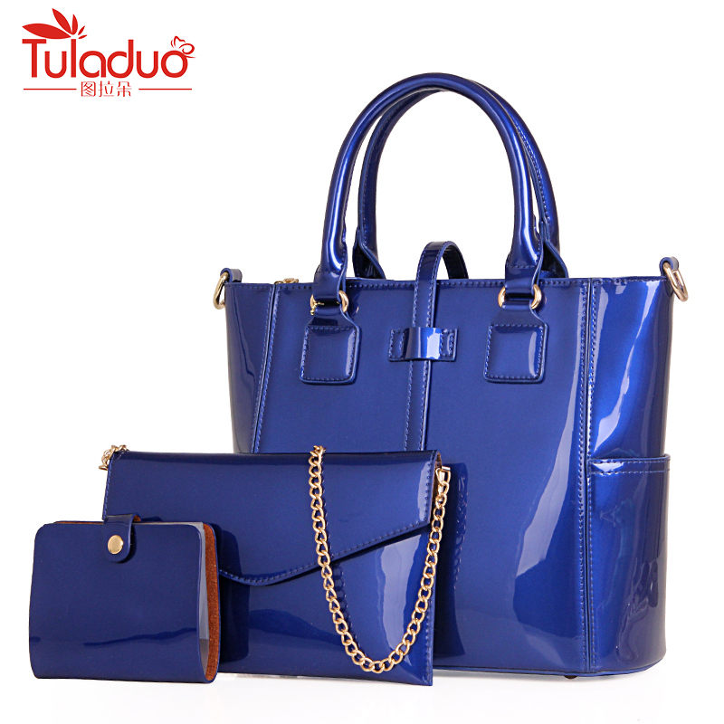 Fashion Solid Women Handbag 3pcs/Set Composite Bag Shoulder Bags Ladies Pu Leather Causal Tote Bag 2018 New Handbags Sac A Main