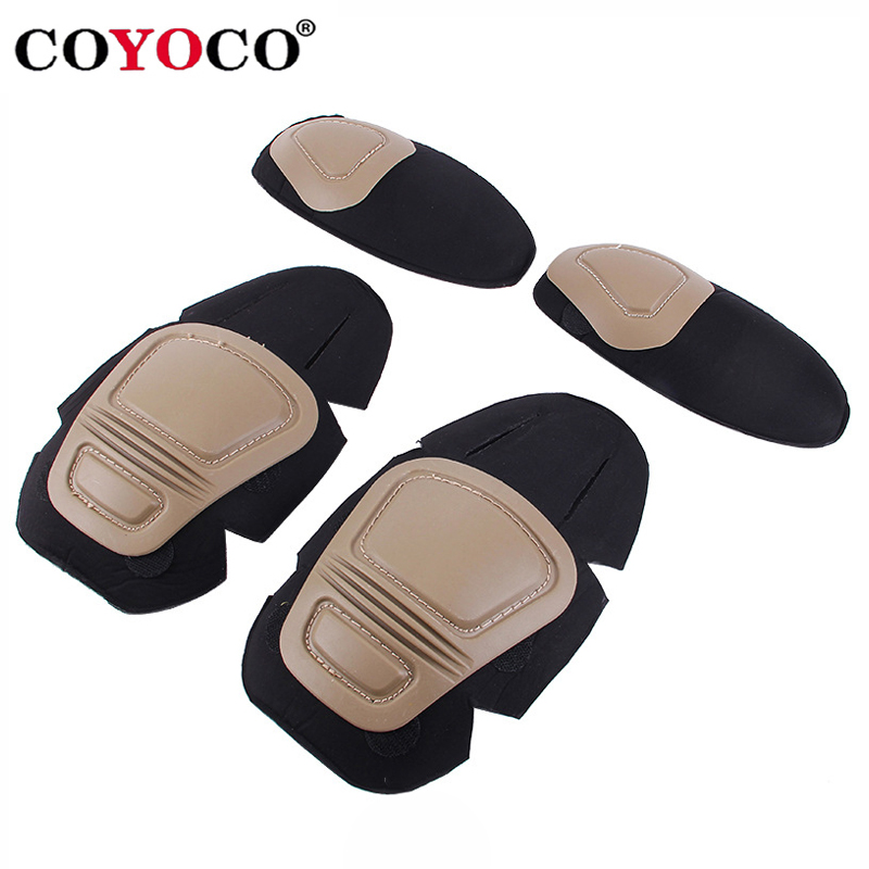 COYOCO Military Tactical G2 G3 Frog Suit Knee Pads & Elbow Support Paintball Airsoft Kneepad Interpolated Knee Protector Set