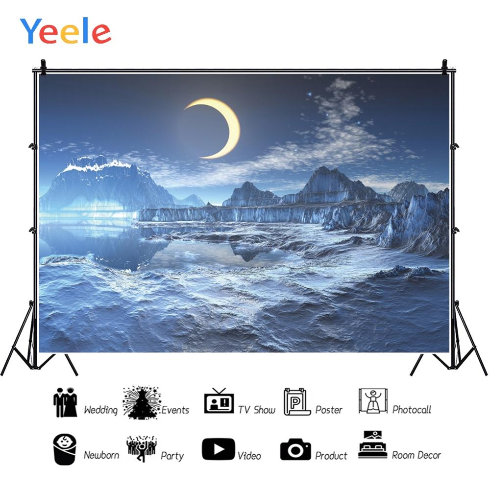 Yeele Bedhead Landscape Night Moon Mountain Lake Photography Backdrops Personalized Photographic Backgrounds For Photo Studio in Background from Consumer Electronics