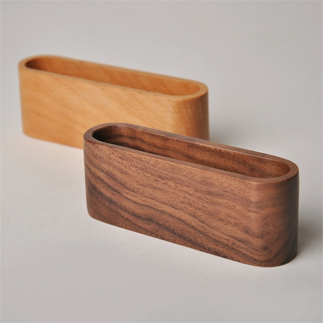 1Pc Wooden Business Card Holders Note Holder Display Device Card Stand Holder Office Desk Accessories Organizer