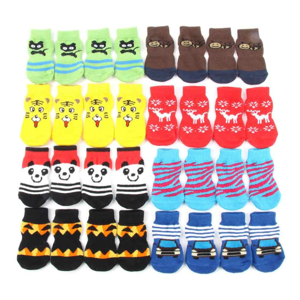 Small Pet Dog Doggy Shoes Lovely Animals Patterns Soft Warm Knitted Socks Clothes Apparels For Small Medium Large Dogs
