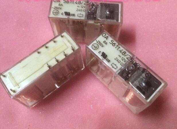 relay OA 5611.48/2502L1/61 12VDC OA5611.48/2502L1/61 OA-5611.48/2502L1/61 OA5611482502L161 12VDC DC12V 12V DIP10 1pcs/lot ht3786d dip10