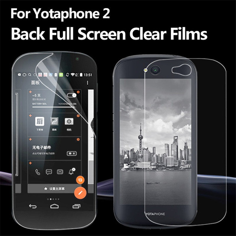 Premium HD Clear Soft Screen Protector For Yota Phone 2 YotaPhone 2 YD206 Phone2 Transparent Protective Film Guard