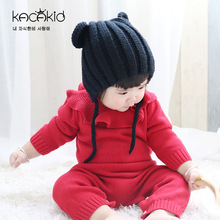 Kacakid childrens wear baby girls long sleeve Bodysuits Kids knitted clothes Sweet girl bodysuits climbing sweater