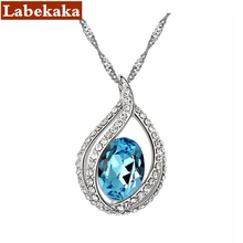 Labekaka Brand 2017 New Design Hot Statement Necklace For Women Crystals From Swarovski Necklaces Pendants Wedding Party Jewelry(China)