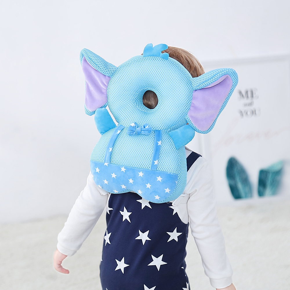 Baby Anti-fall Walking Pillow Pad Head Protection Pillow Toddler Safety Harnesses Backpack Infant Breathable Head Neck Care Pad
