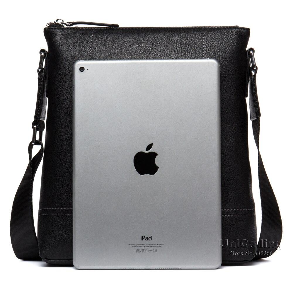Кожаные сумки для мужчин Модная брендовая натуральная кожа Креста тела сумки мужская повседневная кожаная сумка для iPad/гаджеты - 2