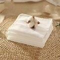 Musselina de Algodão Bebê Recém-nascido Toalhas de Banho de Luxo Branco Ventilação 15 Pcs Casa Mão de Material de Alimentação Do Bebê Toalha de Rosto Suave 70A0238