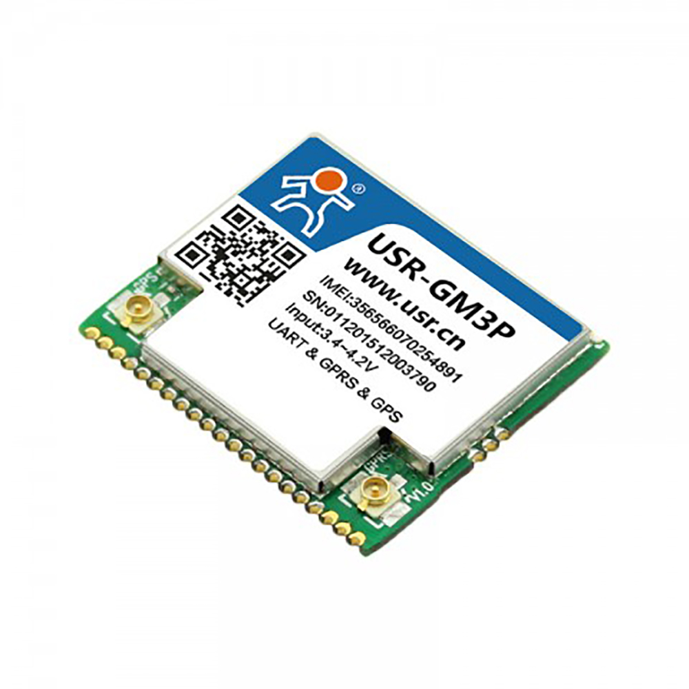 USR-GM3P Industrial UART Serial To GSM GPRS Wireless Module with GPS Positioning Support Httpd Client Function Low Power Q174 uart serial port to zigbee wireless module cc2630 chip drf1609h with pa 1 6km