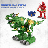 Children Remote Control Toy Deformation Dinosaur Robot Toy Remote Control Deformation Infrared Rc Strobe Pet Toys