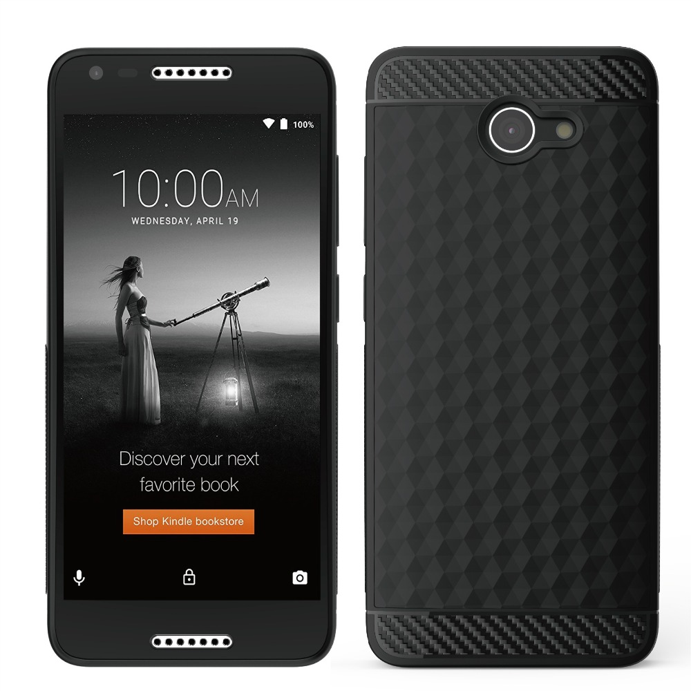 For Alcatel A30 A30 Plus Case, Silicon TPU Covers Back Shell Durable Protective Soft Rubber Funda Black