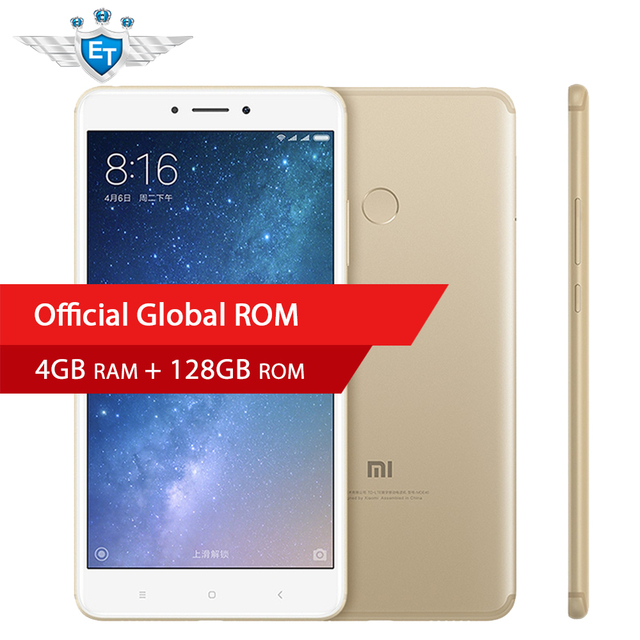 "Original Xiaomi Mi Max 2 6.44"" Mobile Phone 4GB RAM 128GB Snapdragon 625 Octa Core 1080P 12.0MP IMX386 QC3.0 OTG 5300mAh"
