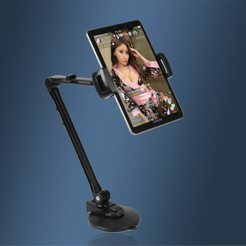 US $24 85 31% OFF|360 Degree Adjustable Arm Stand Holder for iPad iPhone  Tablets HUAWEI Asus Tablet Smartphone 4 10 Inch Fits Car Wall Glass Desk-in
