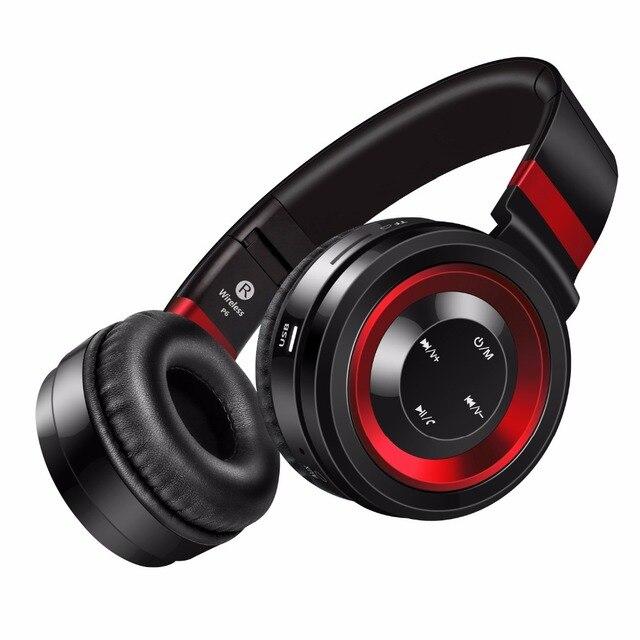 Звук интонировать P6 S Bluetooth гарнитуры стерео беспроводные наушники с микрофоном Поддержка fm радио tf карты наушники для iPhone Xiaomi ПК