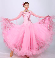 pink standard dance dresses viennese waltz dress standard ballroom dress women swing dancing dresses modern dance clothes