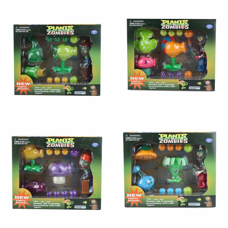 Kids Popular Game Collection Figma PVZ Plants VS Zombies Peashooter PVC Toys Action Figure Model Toy Gifts Toys For Children  3 8cm plants vs zombies action figure toy pvc plants vs zombies figure model toys for children collective brinquedos