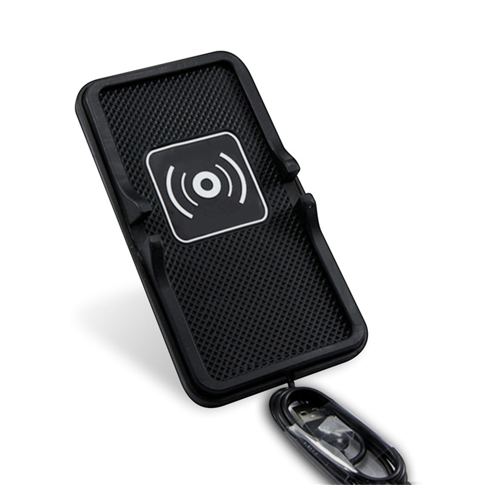 GKFLY Car anti-slip Qi wireless charger launch pad Charging for Apple 8 X plus for Samsung s8 note8 mobile phone universal
