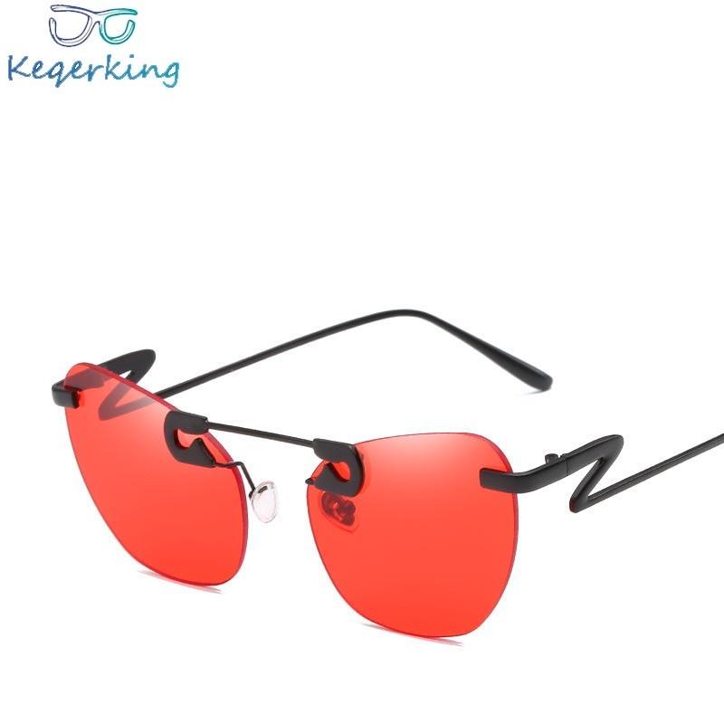 Metal Pin Decorative Sunglasses Women Brand Designer