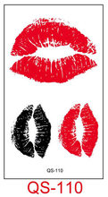 Waterproof Temporary Tattoo Stickers lip kiss mouth fake Tattoo Geometric animal Flash Tattoo Hand Back Foot for Girl Women Men(China)