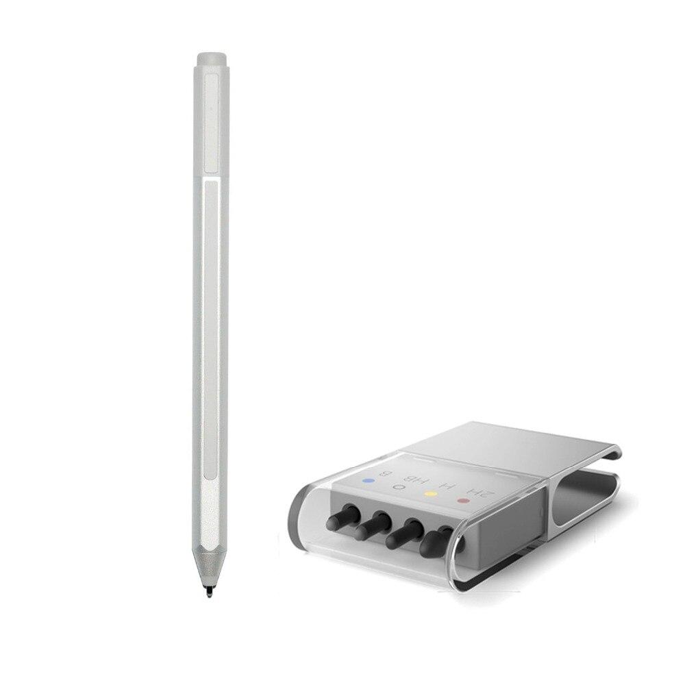 Новый поверхности Стилус + советы Заправка для Surface Pro 3 Pro 4 серебряных Blutooth емкостный Экран